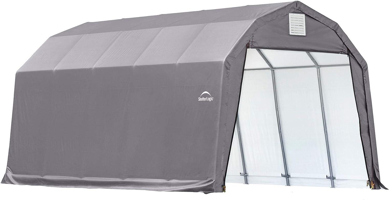 Amazon Com Shelterlogic 90053 Grey 12 X20 X11 Barn Shelter Automotive