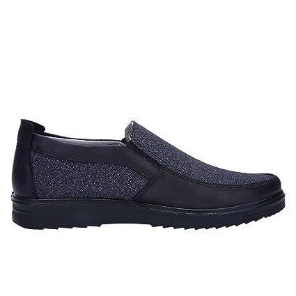 LuckyGirls Zapatillas Negocio para Hombre Patchwork Retro Casual Calzado de Planos Informales Bambas Zapatos para Perezoso Náuticos Mocasines Sin Cordones: ...