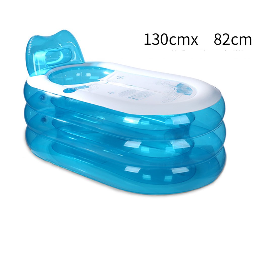 HWZDYZW Inflatable Bathtub Adult Portable,Folding Comfortable Bath,Home Spa Massage Quality Tub Soaking Baths Inflatable Pools Spa Bathtub (Size : M) by HWZDYZW