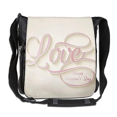 Background Of Love Custom Unisex Polyester Fiber Messenger Bag Cross-Body Bag Daypack Bag