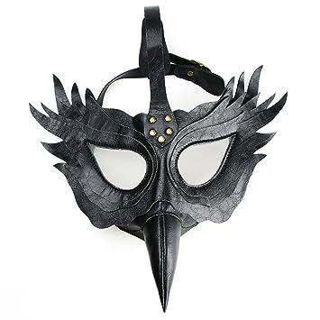 MagiDeal Máscara Pico Médico de la Peste Negra Accesorios Disfraces para Halloween Cosplay Carnaval - Negro