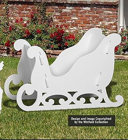 amazon com medium sleigh display garden outdoor