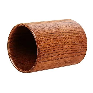 Buy Phenovo Round Wooden Kitchen Utensil Storage Jar Cutlery Holder