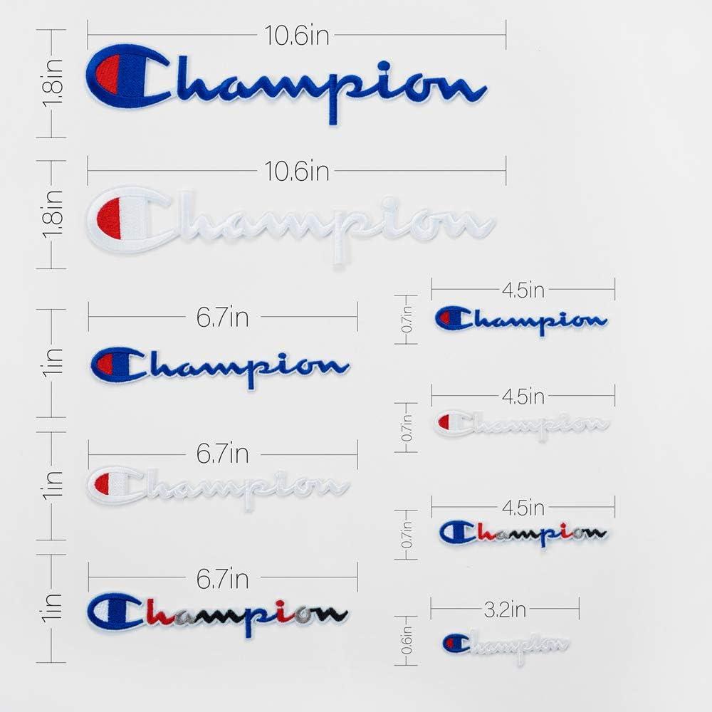 19 St/ück Champion Patches verschiedene Gr/ö/ßen Patch Set zum Aufn/ähen oder Aufb/ügeln bestickt DIY Applikation Emblem Badge Deko