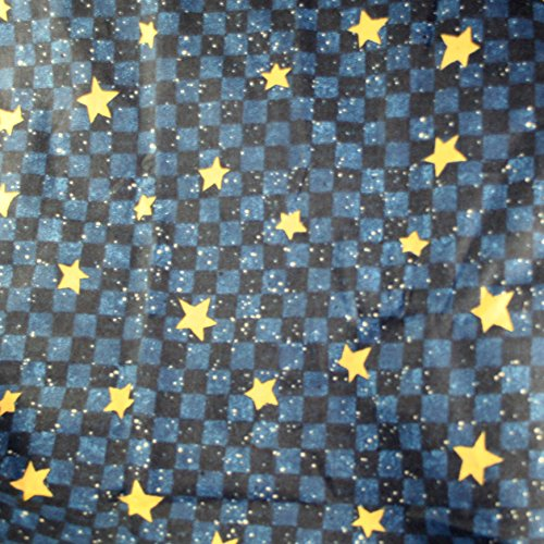 Daisy Checkerboard (Daisy Kingdom 4785 Checkerboard Stars Beth Yarborough Cotton Fabric 2.66)