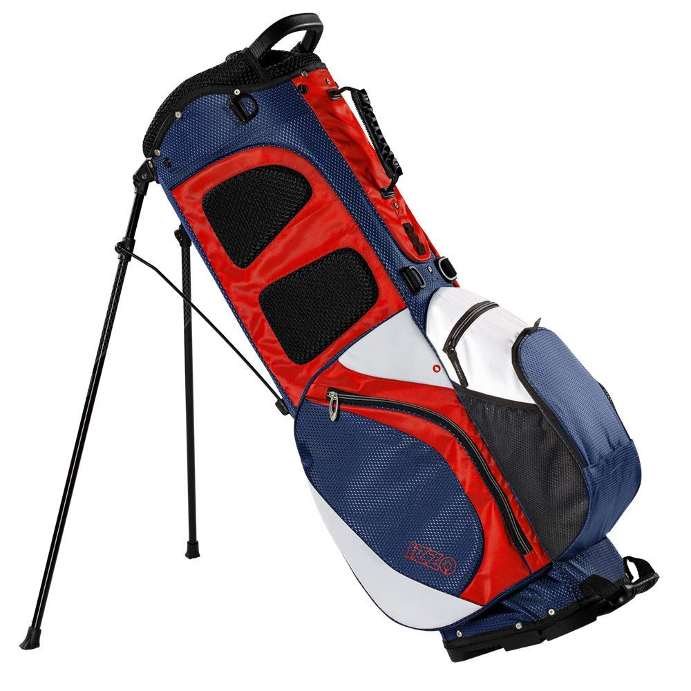 IZZO Golf Izzo Lite Stand Golf Bag - Black, Red, Green or Blue - Walking Golf Bag, Ultra Light Perfect for Carrying on The Golf Course, with Dual Straps for Easy to Carry Golf Bag.