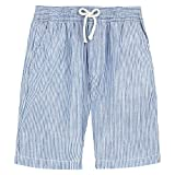 Vilebrequin Micro-Stripped Linen Bermuda Shorts - Boys - 12 Years - Blue-Sky