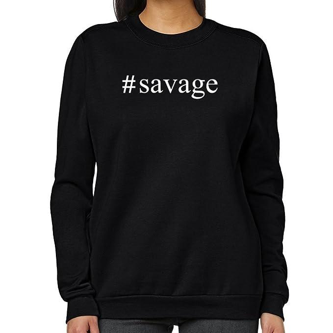 Teeburon Savage Hashtag Sudadera Mujer