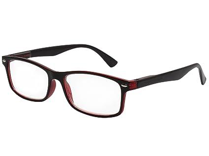 45933fd02582ed TBOC Lunettes de Lecture Presbyte – Dioptrie +1.50 Monture Bicolore Noire  et Rouge pour Femme