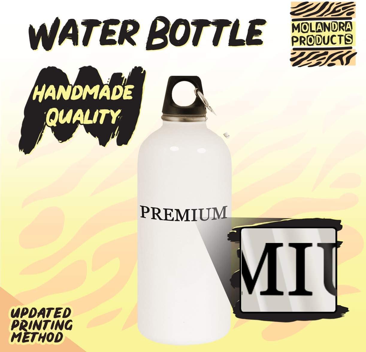 got brant? - 20oz Stainless Steel White Water Bottle with Carabiner, White 51yDrH4vhWL