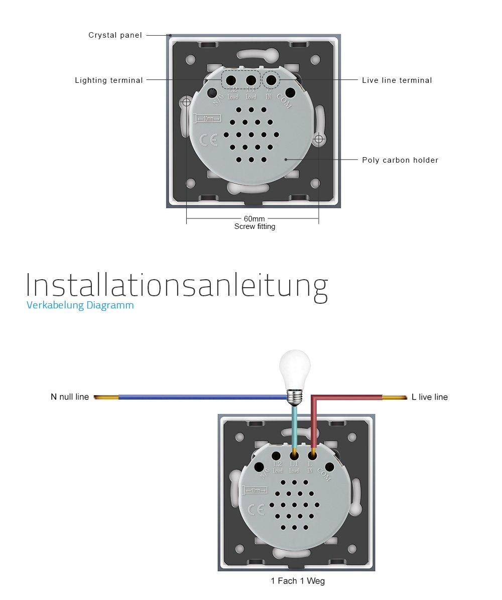 Fantastisch Verkabelung Von Zwei Lichtschaltern In Einer Box ...