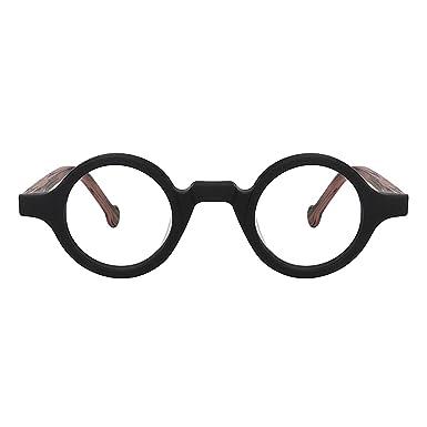 b207f36fbed Zeelool Unisex Acetate Vintage Small Round Eyeglasses Frame Arale  FA0176-01(Black)