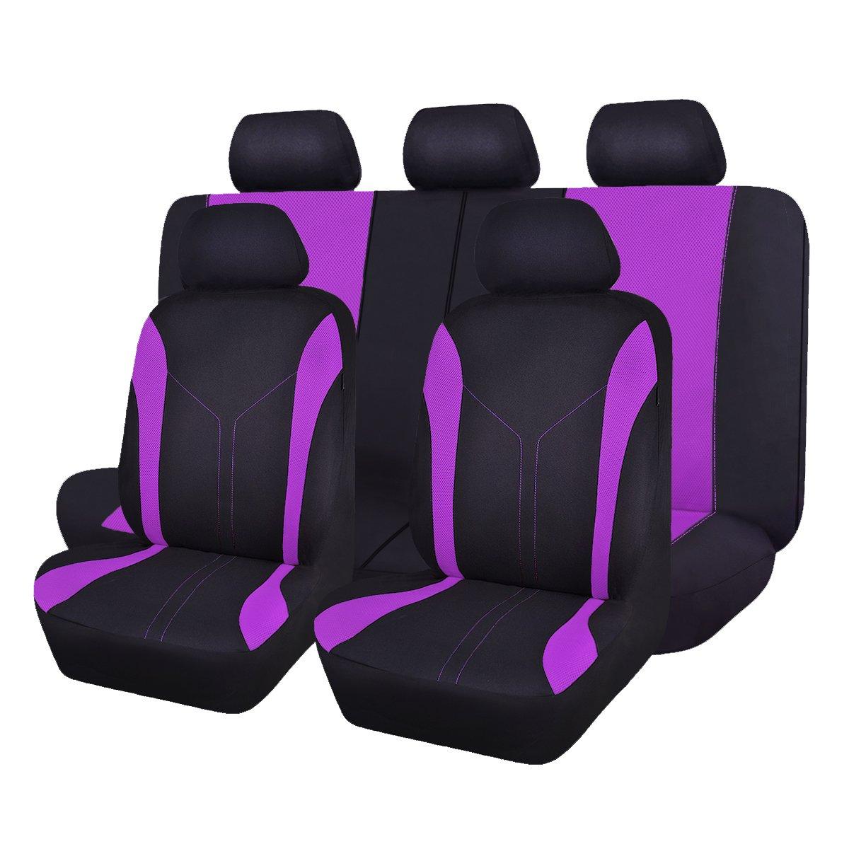 Flying banner 6 pezzi moda maglia universale Fit progettato set coprisedili per auto