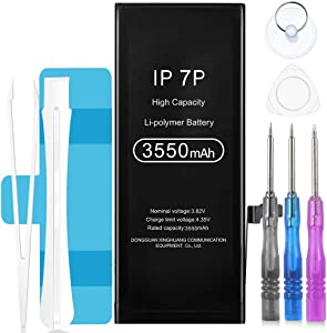 VIVK Battery for iPhone 7 Plus, 3550mAh High Capacity Li-Polymer 0 Cycle Replacement Battery A1661 A1784 A1785 with Complete Repair Tool Kit Adhesive Strips and Instructions