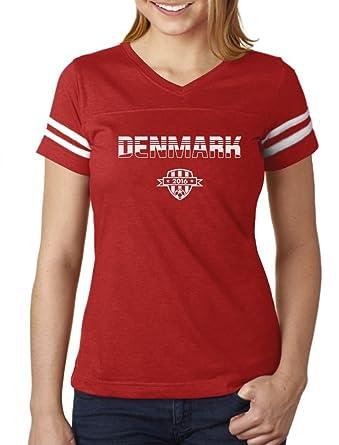 48202367e Denmark Soccer/Football Team 2016 Fans Women Football Jersey T-Shirt Small  red/