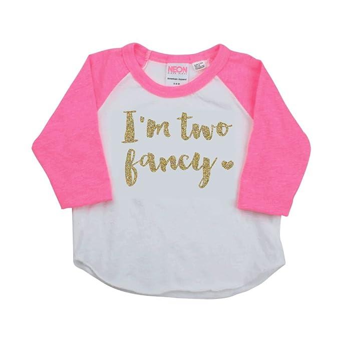 Amazon.com: 2 year old Birthday Girl – Camisa, rosa y dorado ...