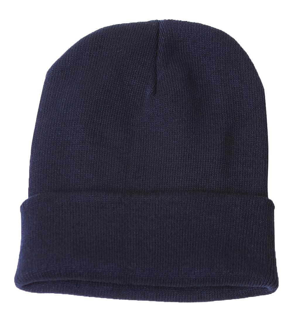 Blank Long Cuff Beanie - Navy Blue at Amazon Men s Clothing store  Navy  Blue Shades 8aafa1892cf