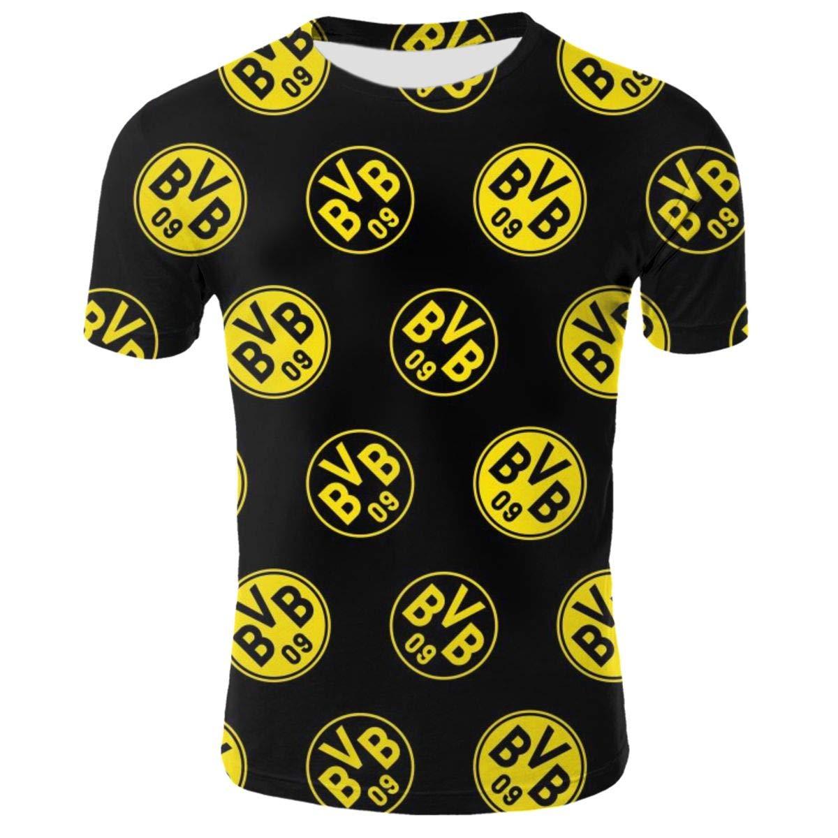 Borussia Dortmund BVB Herren T-Shirt Sommer Manner Crow Tee Short Sleeve
