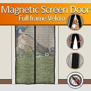 Bestope Magnetic Screen Door Heavy Duty Magic Mesh Curtain