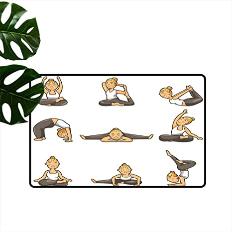 Amazon.com : Anzhutwelve Yoga,Printed Floor Mats Cartoon ...