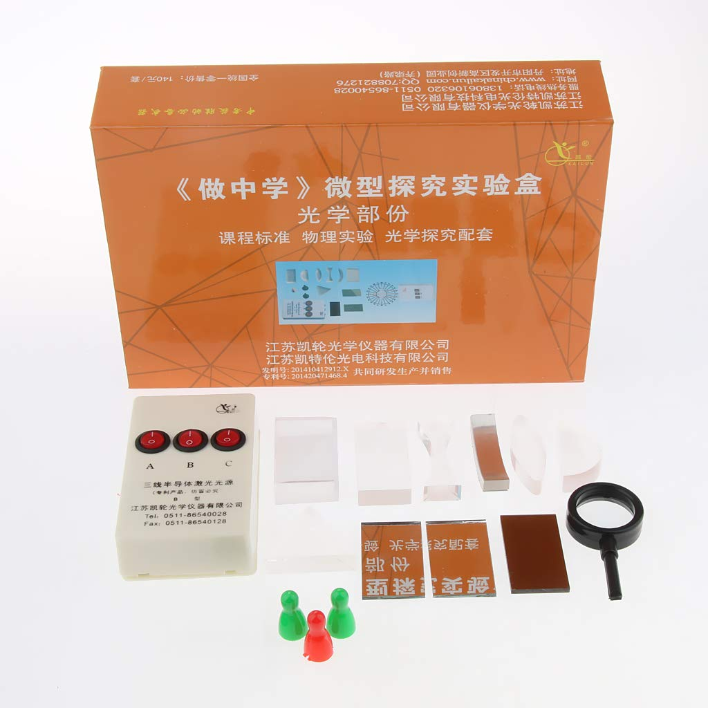 the Law of Light Reflection and Refraction Optical Concave Convex Lens Prism Set Physical Optical Kit Laboratory to Study the Propagation of Light