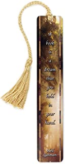 product image for Author Neil Gaiman Book Quote on Wooden Bookmark, Color Photograph by Mike DeCesare - Search B0798XNM5S for Personalized Version
