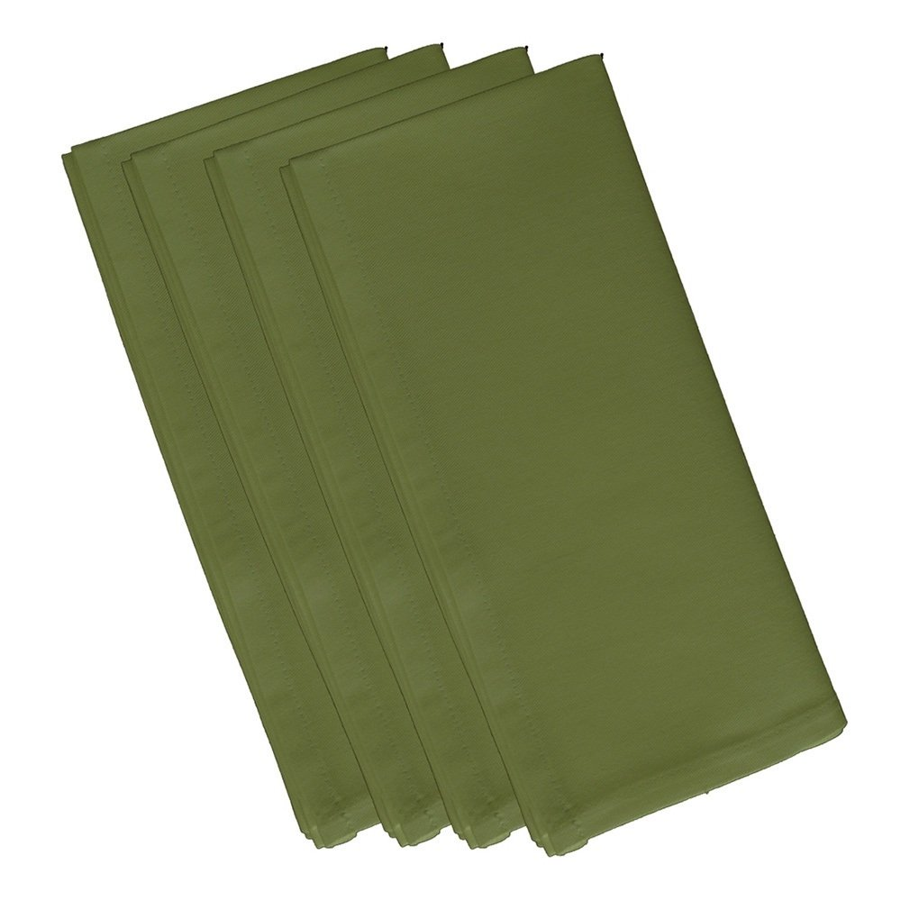 4 Piece Olive Dinner Napkin, (Set Of 4), Solid Pattern, Classic And Contemporary Style, Square Shape, Good Qualitie, Everyday Or Special Occasions, Decorative, Cotton Material, Lime Green, Sage
