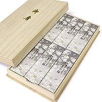 日本香堂 宇野千代系列线香 淡墨之樱 桐箱包装 60克×6(礼盒装)