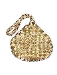 Brino Women Lady Evening Clutch Party Wedding Handbag Rhinestone Bag Purse