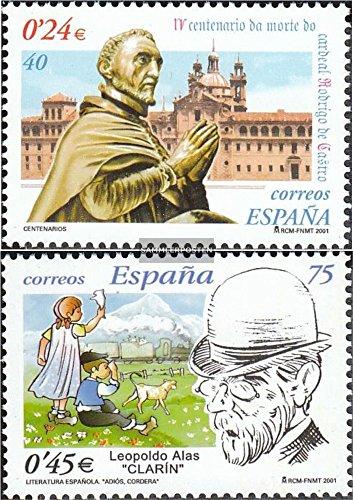 Spain 3634,3635 (complete.issue.) 2001 Rodrigo de Castro, Alas (Stamps for (Rodrigo Rubber)