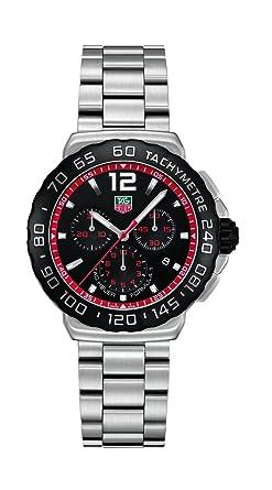Tag Formula 1 Watch >> Tag Heuer Men S Cau1116 Ba0858 Formula 1 Black Dial Stainless Steel Watch