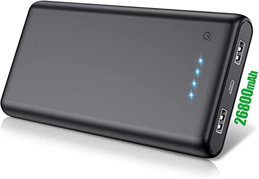 QTshine Batería Externa 26800mAh, Cargador Portátil Ultra ...