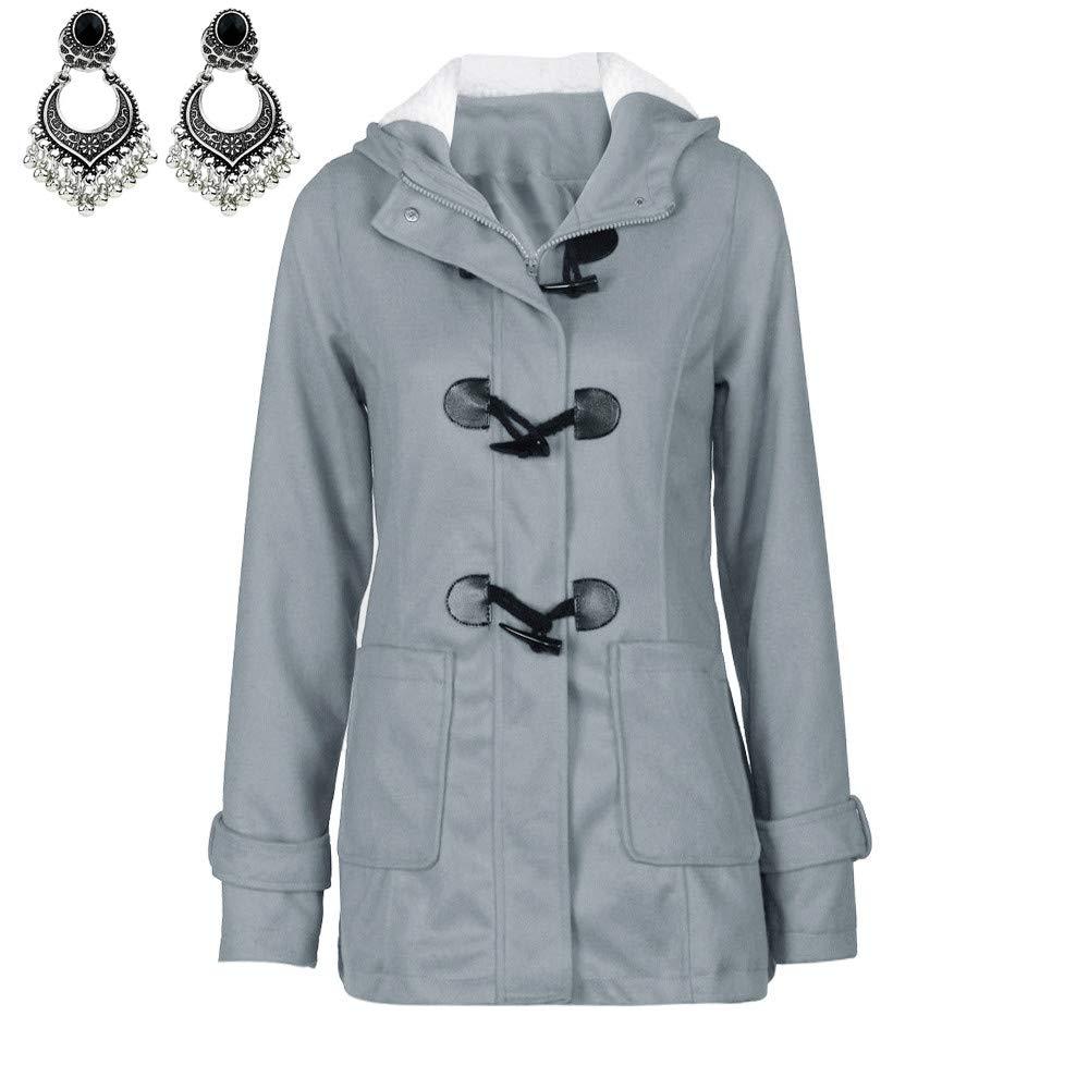 PLENTOP Fashion Women Windbreaker Outwear Warm Wool Slim Long Coat Jacket Trench 27.48
