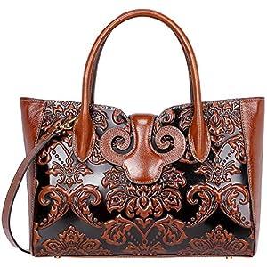PIJUSHI Floral Handbags For Women Designer Handbag Top Handle Shoulder Bags For Ladies