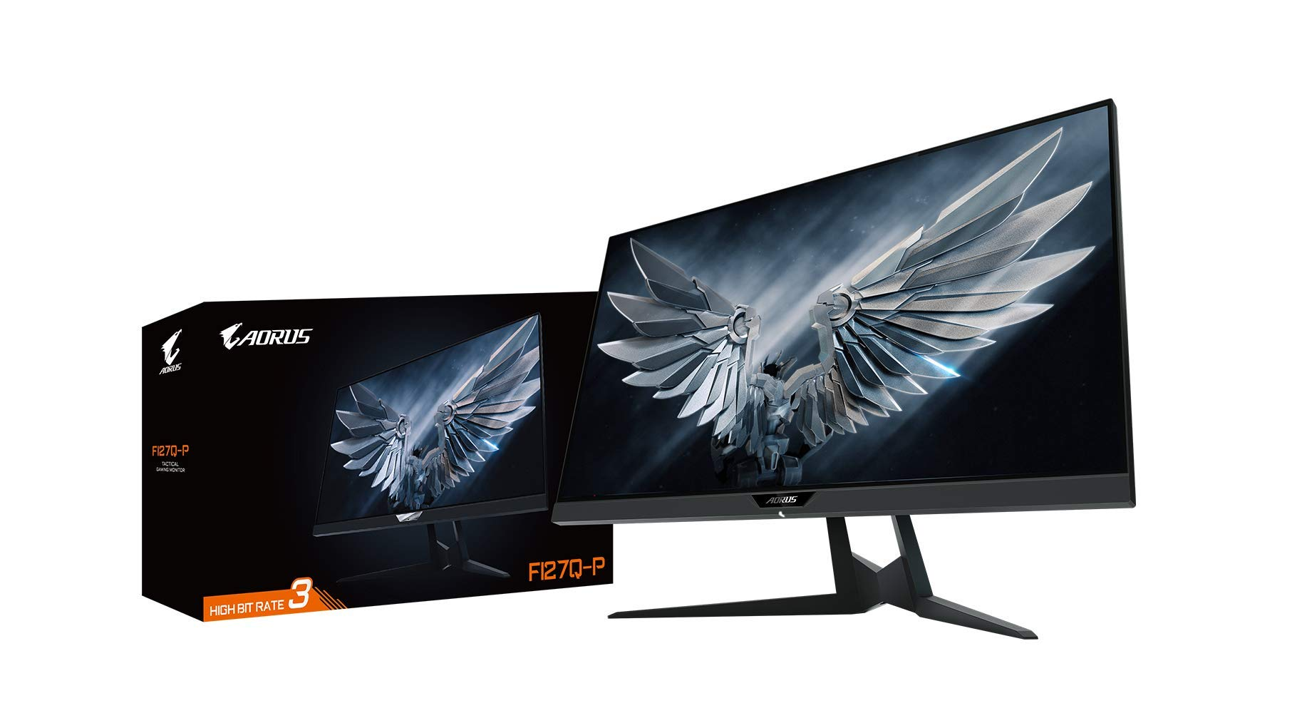 """Gigabyte FI27Q-P 27"""" Frameless Gaming Monitor, QHD 1440p, 95% DCI-P3 Color Accurate IPS Panel, 1ms 165 Hz, HDR, G-SYNC Compatible and FreeSync Premium, Height/Tilt/Rotation Adjustable, VESA"""