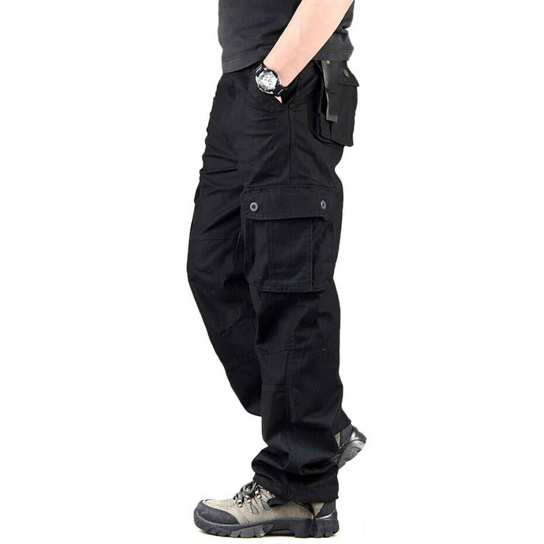 Dark Dark Dark bluee Dendrobium Men Cargo Pants Multi Pockets Military Tactical Pants Men Outwear Army Long Trousers 69d819