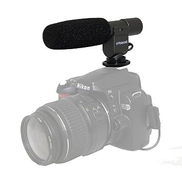Polaroid Professional Grade - Micrófono para cámaras réflex y ...