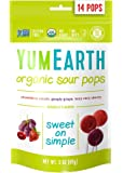 YumEarth Organic Natural Super Sour Lollipops, 3 Ounce Pouches (Pack of 6)