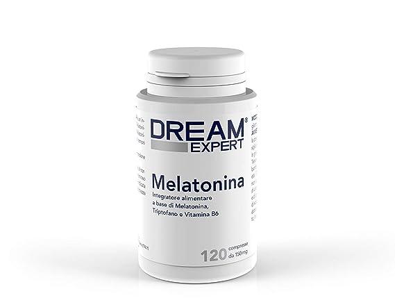 Dream Expert - 120 tabletas - Suplemento con Melatonina (1 mg) + Triptófano (75 mg) y Vitamina B6 (1,4 mg) - ACCIÓN RÁPIDA: Amazon.es: Salud y cuidado ...