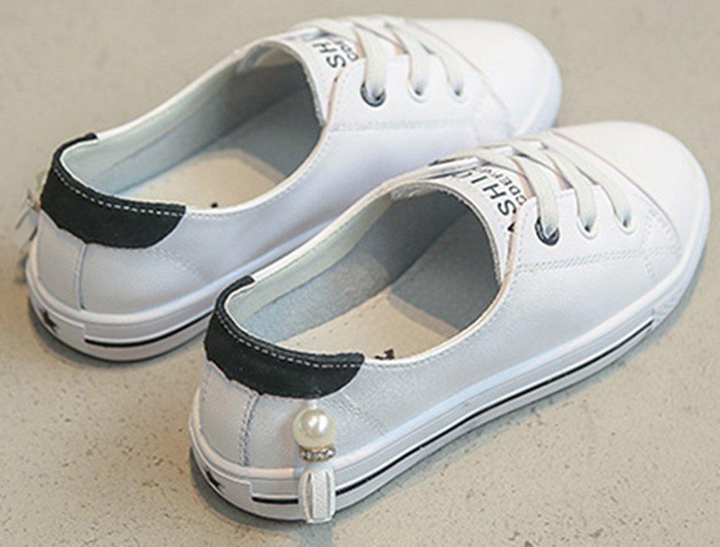 VECJUNIA Girl's Trendy Low Top Round Toe Elastic Casual Flat Shoes Walking (Black, 2.5 M US Little Kid) by VECJUNIA (Image #4)