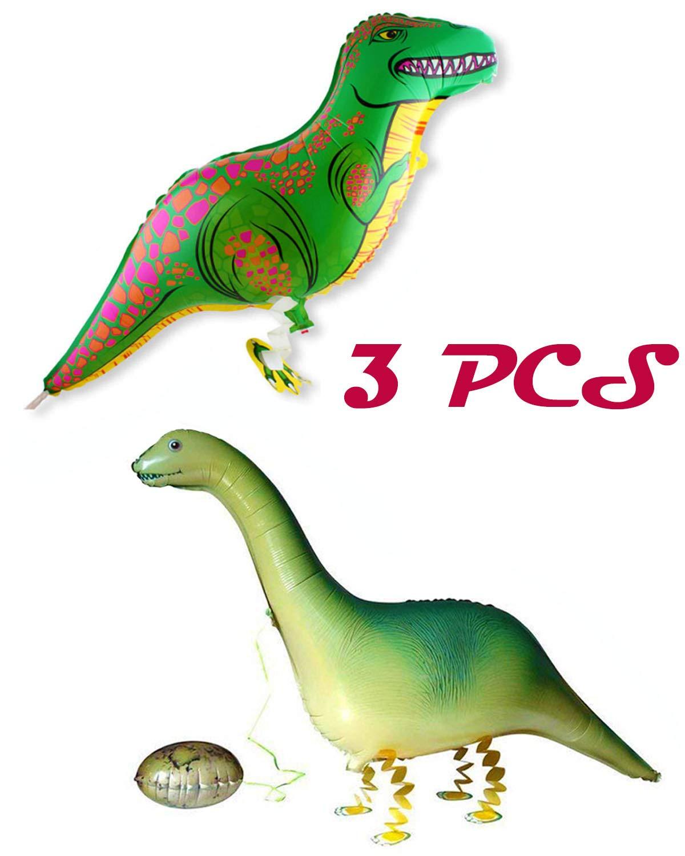WTSHOP 3 PCS Dinosaur balloons,Inflatable Tyrannosaurus Rex,Inflatable Brachiosaurus Dinosaur,Dinosaur Balloons Walking Animal Balloon Air Walkers Kids Birthday Party Decor,Animal balloon