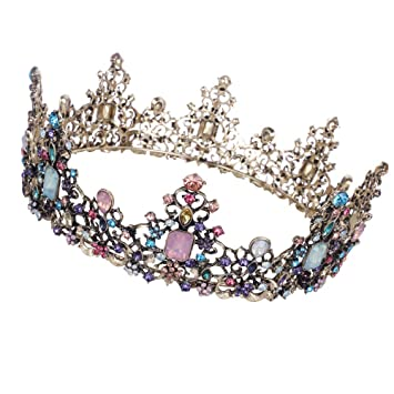 Queen Clear Austrian Rhinestone Crystal Tiara Crown Bridal Pageant Prom Party T9