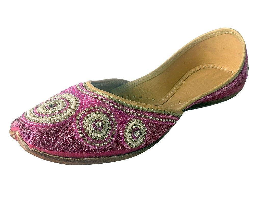 Step n Style Women's Khussa Shoes Punjabi Jutti Ethnic Mojari Flat Ballet Tribal Shoes DD434