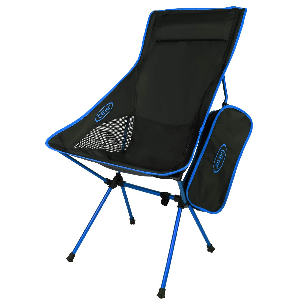 G4Free Lightweight Portable Camping Chair Outdoor Folding Backpacking High Back Camp Lounge Chairs with Headrest for Sports Picnic Beach Hiking Fishing