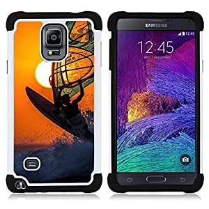 For Samsung Galaxy Note 4 SM-N910 N910 - surf wind boarding sun orange extreme sport Dual Layer caso de Shell HUELGA Impacto pata de cabra con im??genes gr??ficas Steam - Funny Shop -