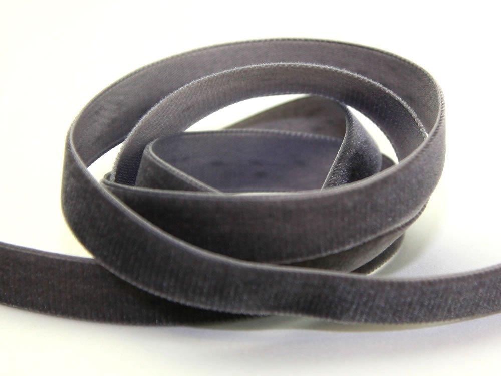 Per Metre 9mm Grey Velvet