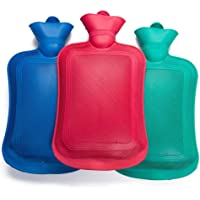 Torix Hot Water Bottle Natural Rubber BPA Free Durable Hot Water Bag for Hot Compress and Heat Therapy Random Colors 2000 ml