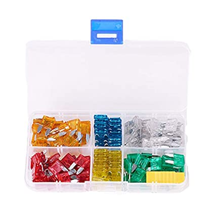 100pcs Mini Blade Fuses Kit With Puller Tool for Automotive Truck Boat