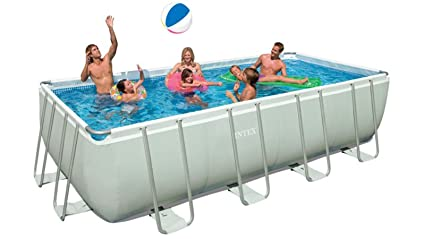 Amazing Intex Rectangular Ultra Frame Pool Set, 24 Feet By 12 Feet By 52