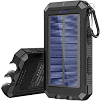 Solar Charger 20000 mAh Portable Solar Power Bank for Cell Phone Waterproof External Backup Solar Battery Charger with…